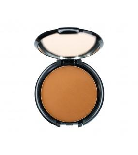 Base de maquillaje de máxima cobertura en polvo o compacta.